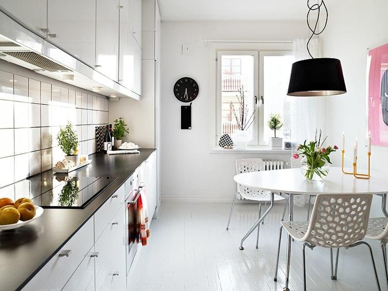 Comedor blanco de diseño moderno   24 fotos geniales