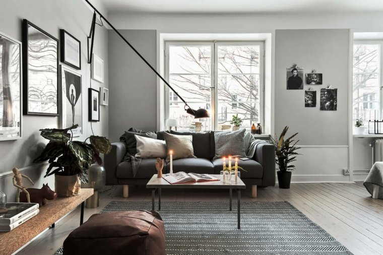 diseno escandinavo Scandinavian Homes salon ideas