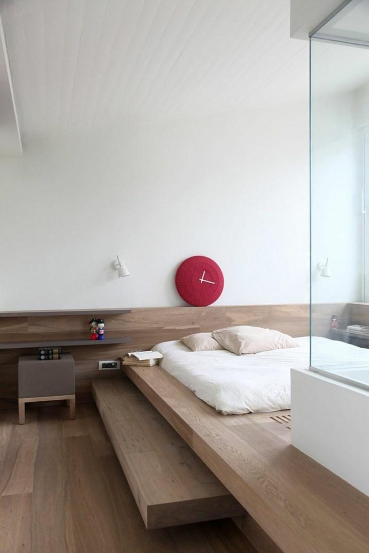 diseño habitación plataforma madera