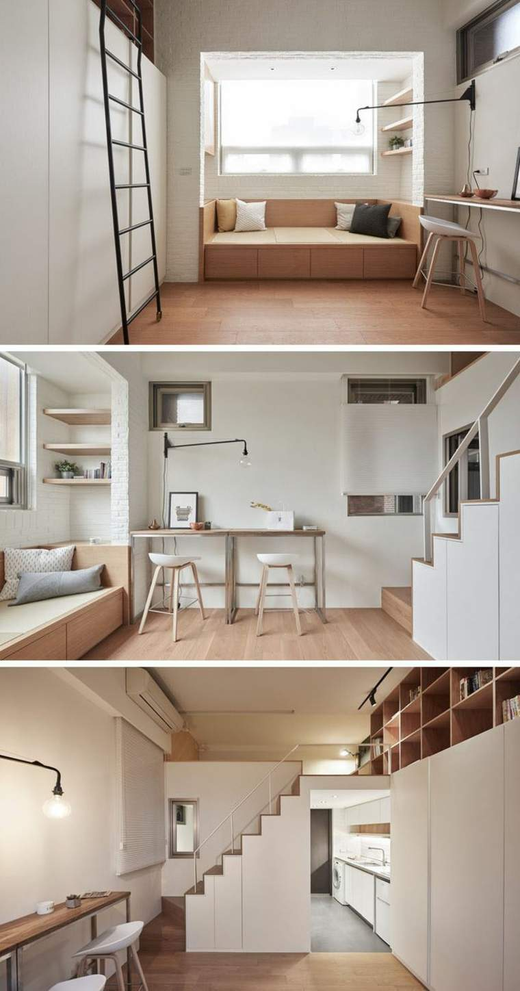 Loft peque o con un interior dise ado a lo grande for Loft apartment interior design