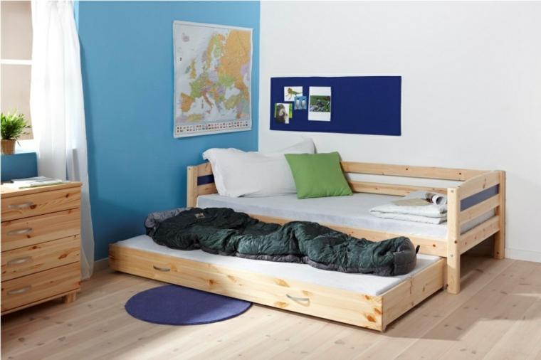 diseño cama doble extraible
