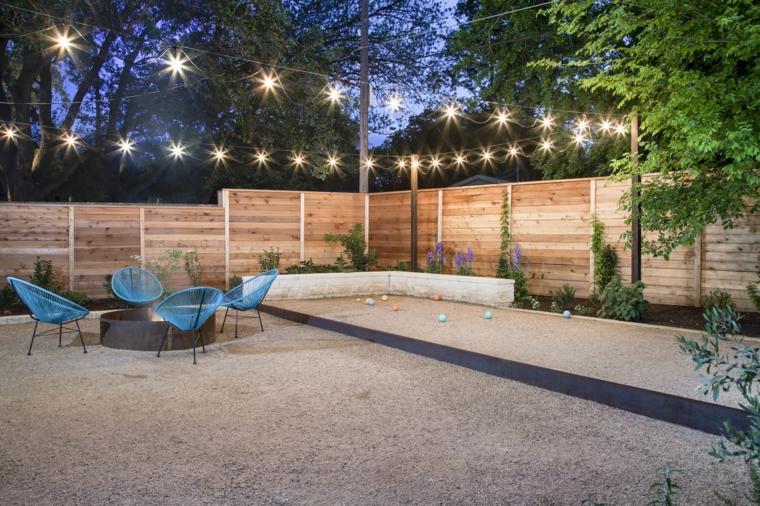 disenos de terrazas exteriores iluminacion original ideas
