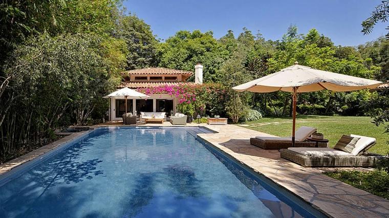 disenos de terrazas exteriores jardin opciones ideas