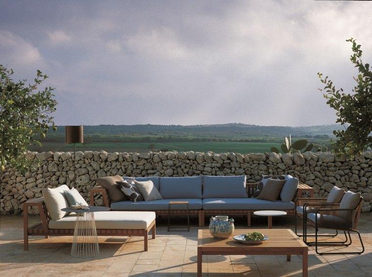 disenos de terrazas exteriores muebles madera ideas