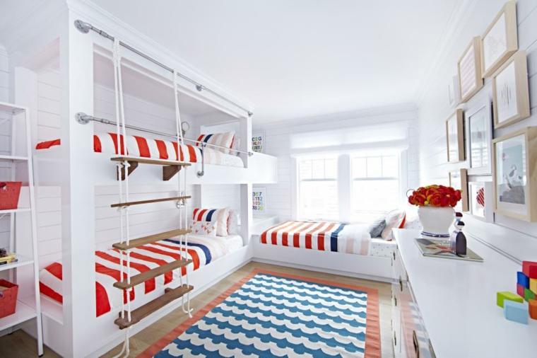 divertidas escaleras camas estilo materiales