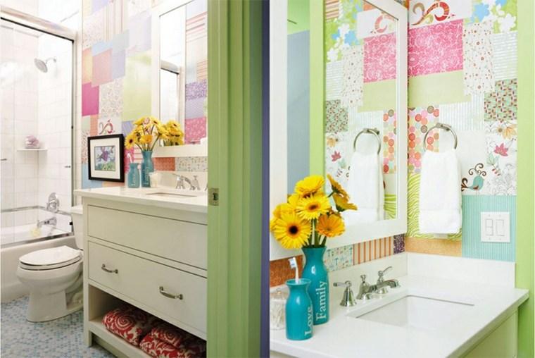 divertidos azulejos cuatro baño