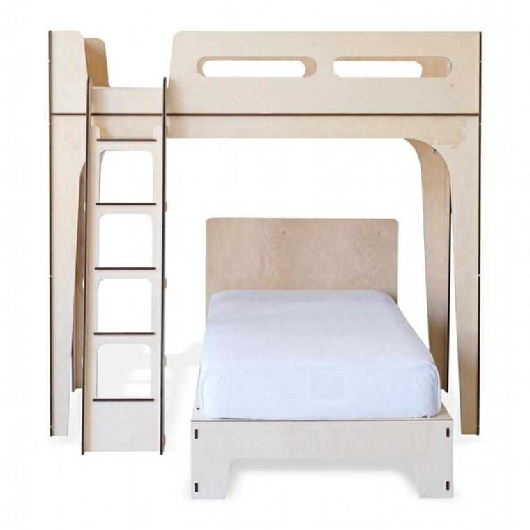 Dise os de camas para ni os en madera 24 im genes - Cama litera de madera ...