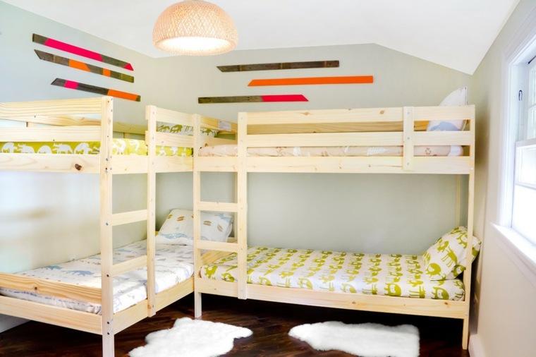 dobles literas habitacion moderna niños