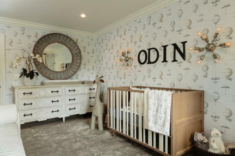 dormitorios bebe casas claras letras