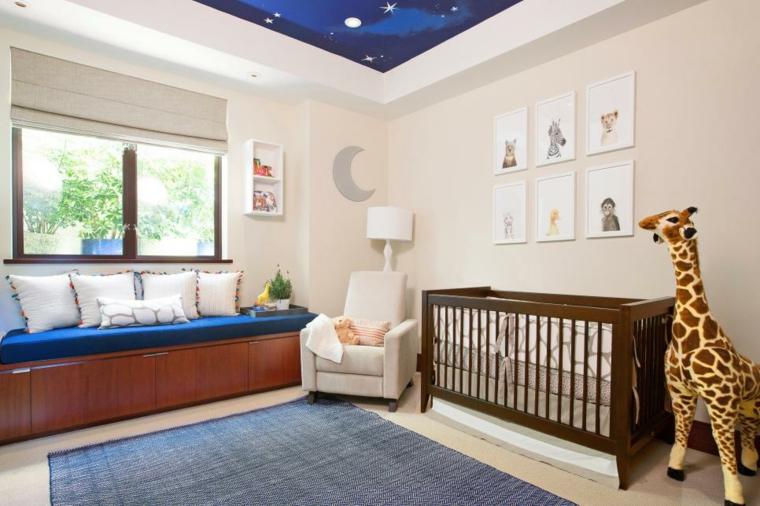 dormitorios bebe cojines senales jirafa