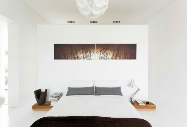 dormitorios diseño cabecero pared muebles