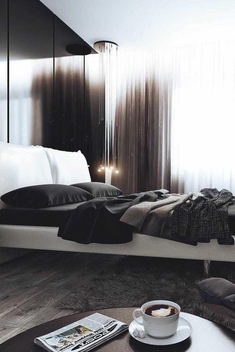 dormitorios diseño marrones maderas claras cafe
