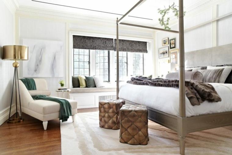 dormitorios diseño metales tinalidades luces