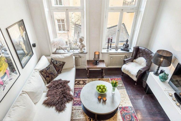 eclectico espacioso ideas lamparas mesa alfombras