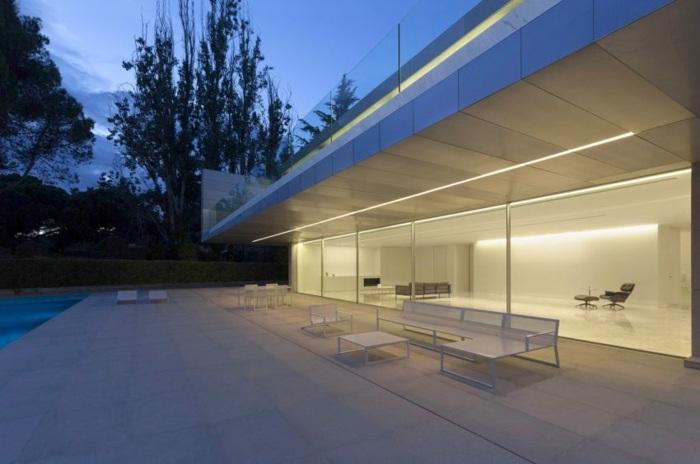 efecto luces exteriores muebles luminarias