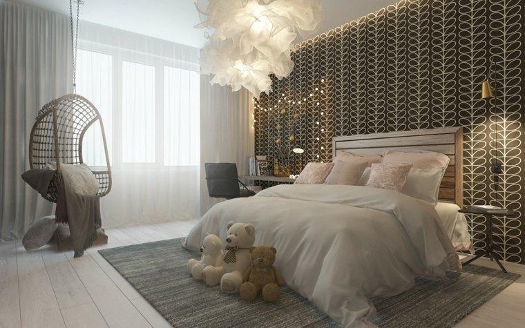 elegante dormitorio chicas pared colores