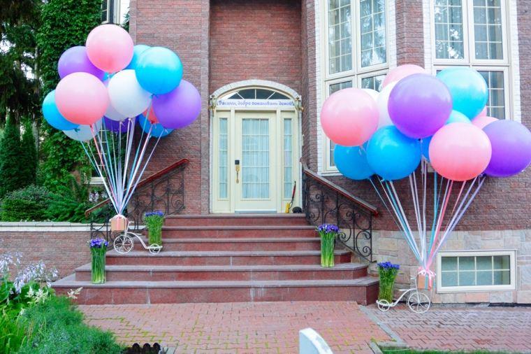Globos fiesta de cumplea os o aniversario con decoraci n - Decoracion de entradas ...