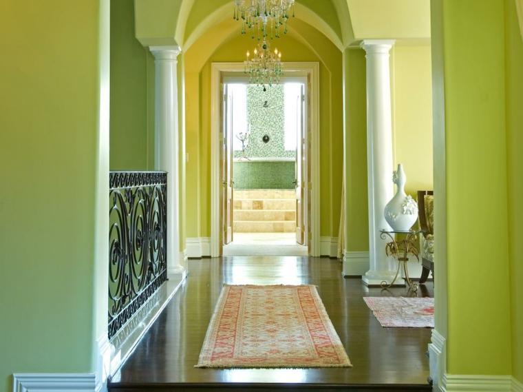 entrada recibidor verde lima
