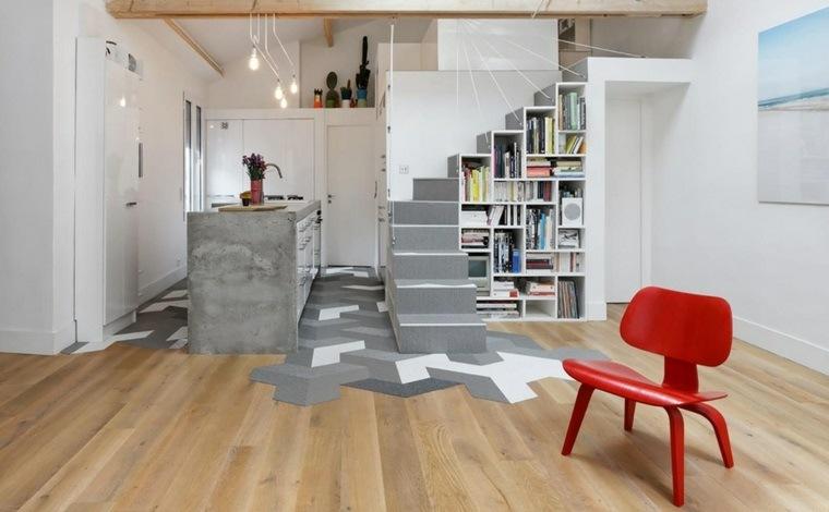 escaleras de interior diseno apartamento diseno funcional ideas