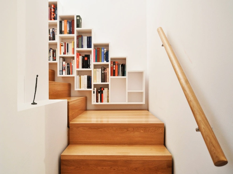 Escaleras de interior e ideas creativas para incorporar for Escaleras libreria