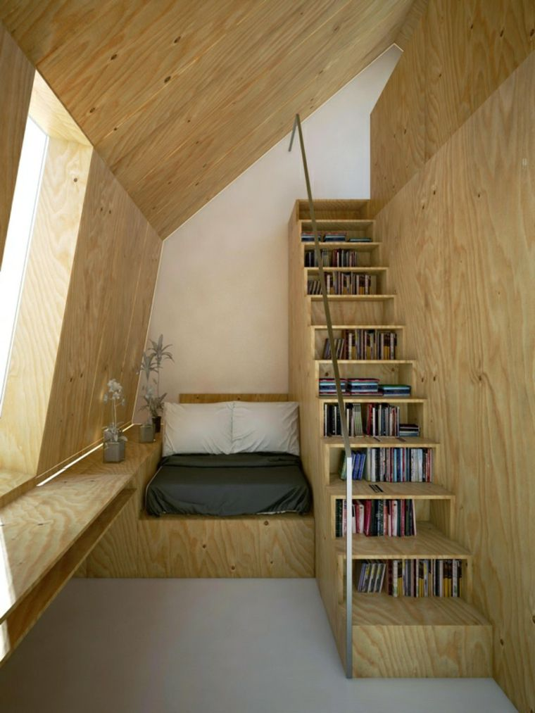 escaleras de interior diseno libros escalones IFJ Architecture ideas