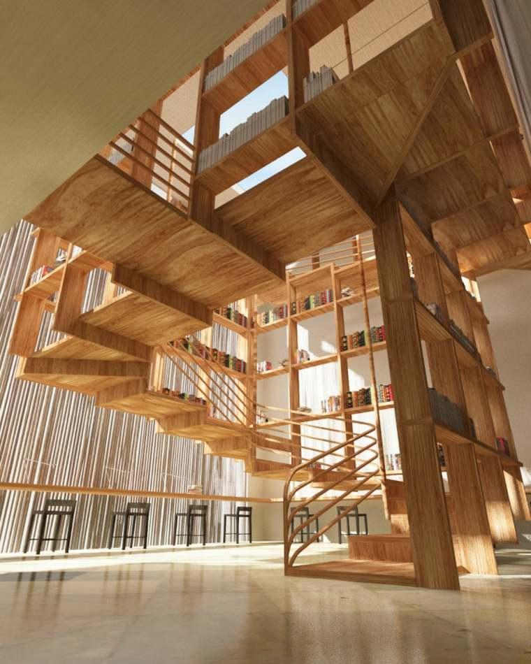 escaleras de interior diseno loft madera Jianxiong Liu ideas