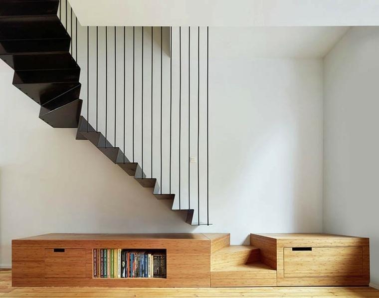 escaleras de interior diseno negro foto Dennis De Smet ideas