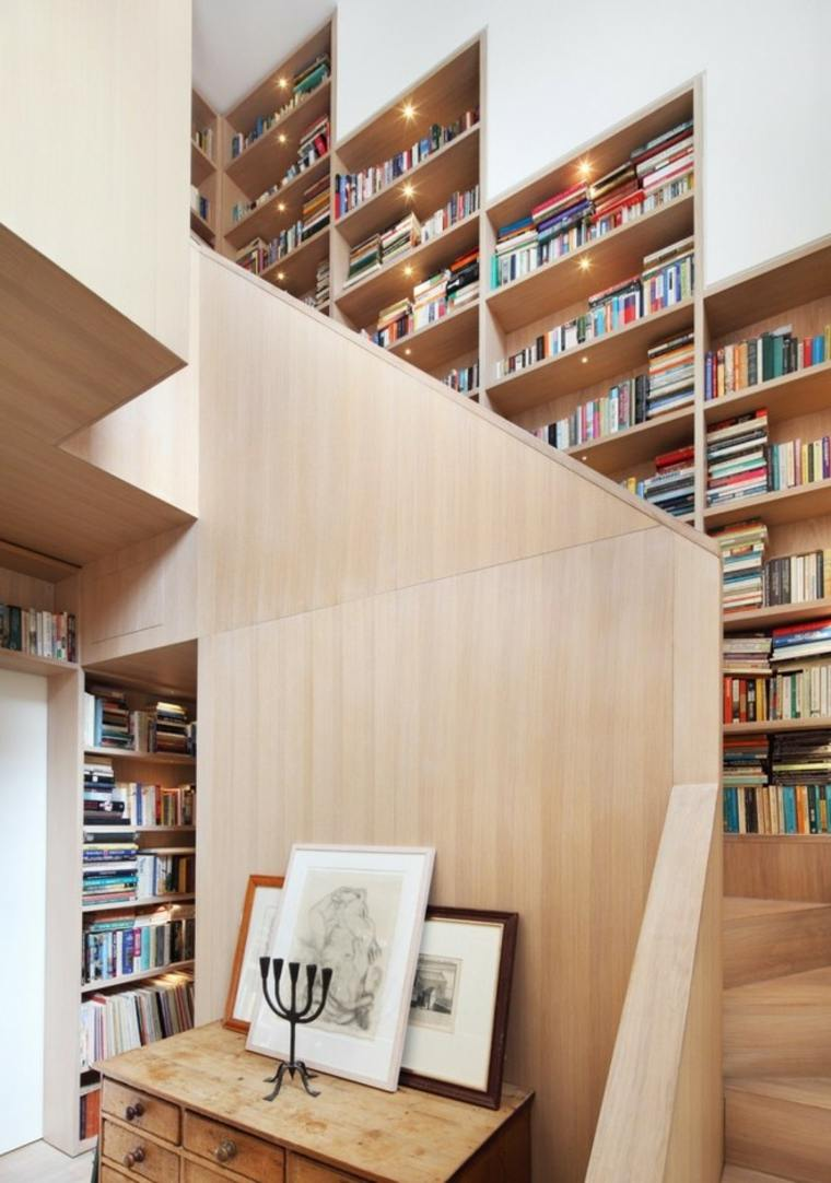 escaleras de interior diseno pared libreria Platform 5 Architects ideas