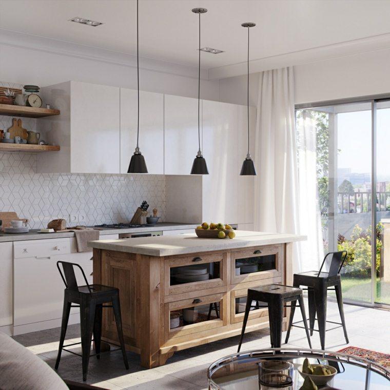 escandinava muebles rusticos luces conceptos