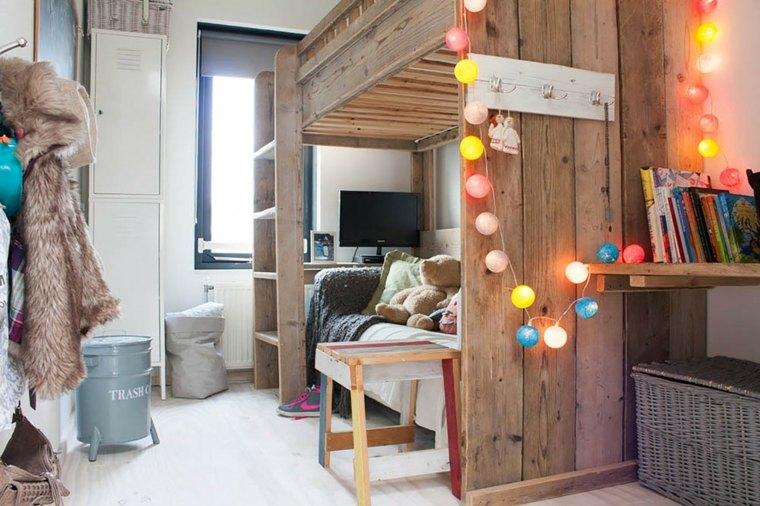 bonitos diseños de camas para niños en madera