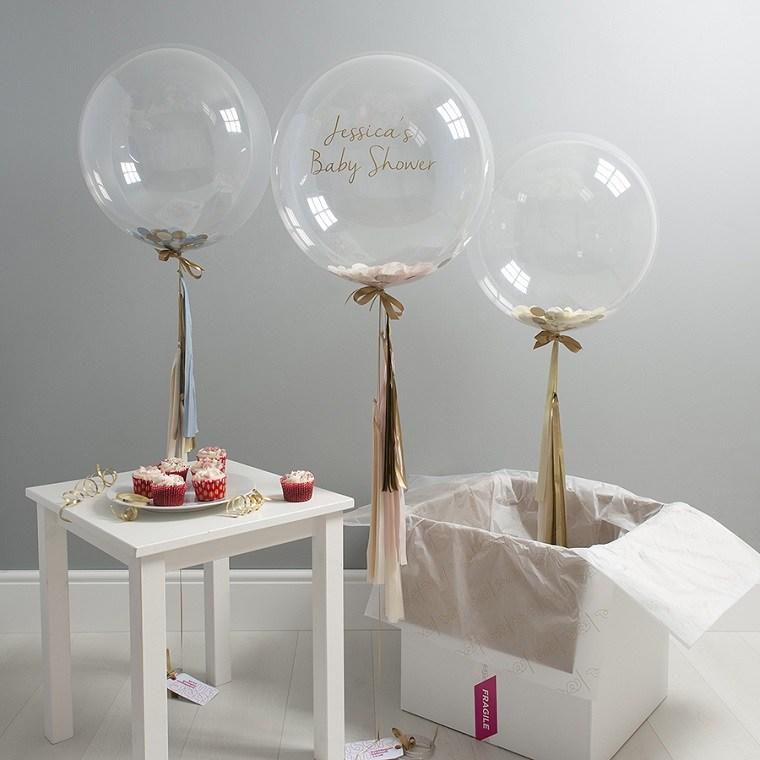 estupendos globos transparentes