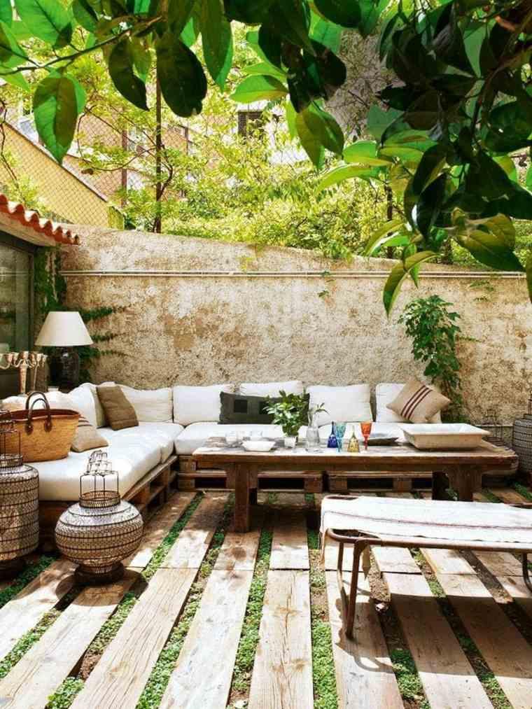 estupenda terraza palet madera