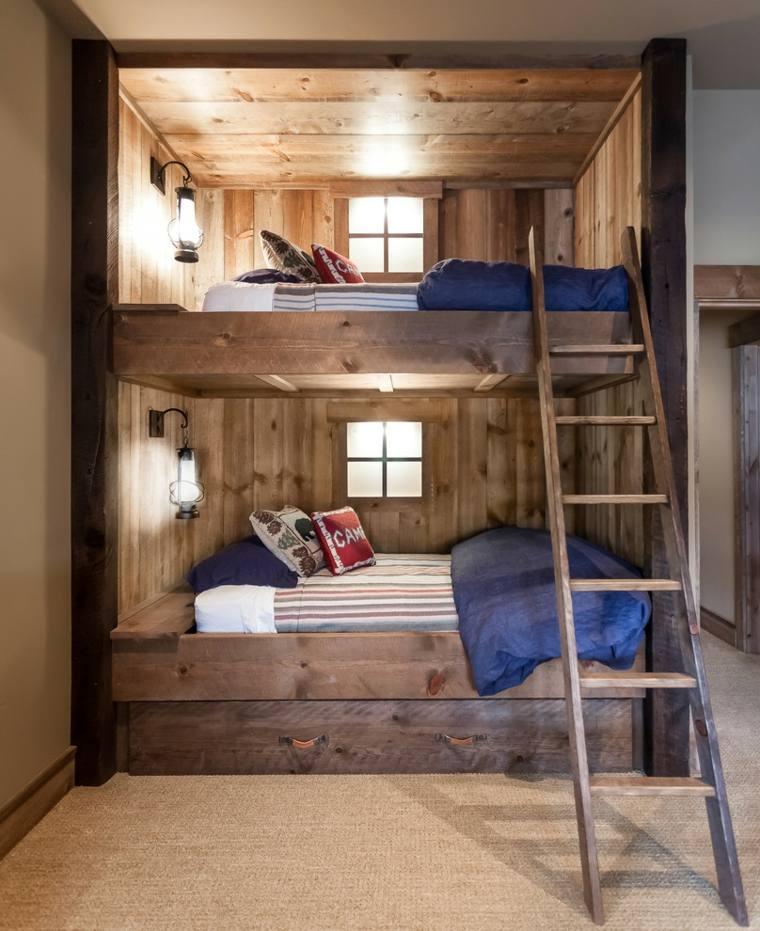 estupenda cama litera madera