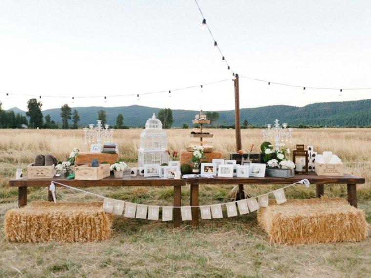 estupenda decoracion boda campo