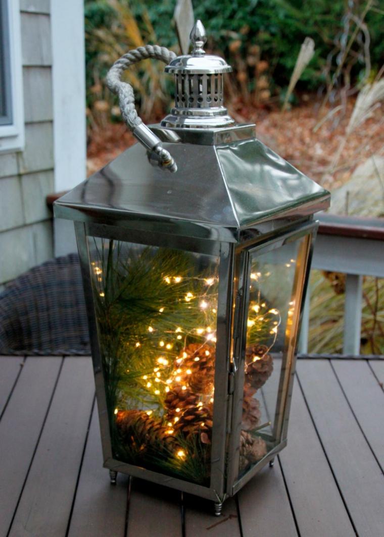 estupenda linterna luces navidad