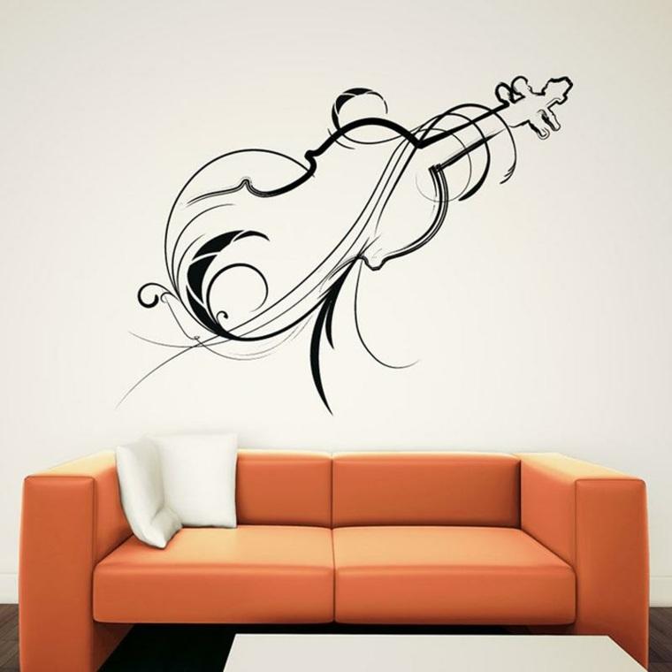 estupenda pegatina vinilo violin