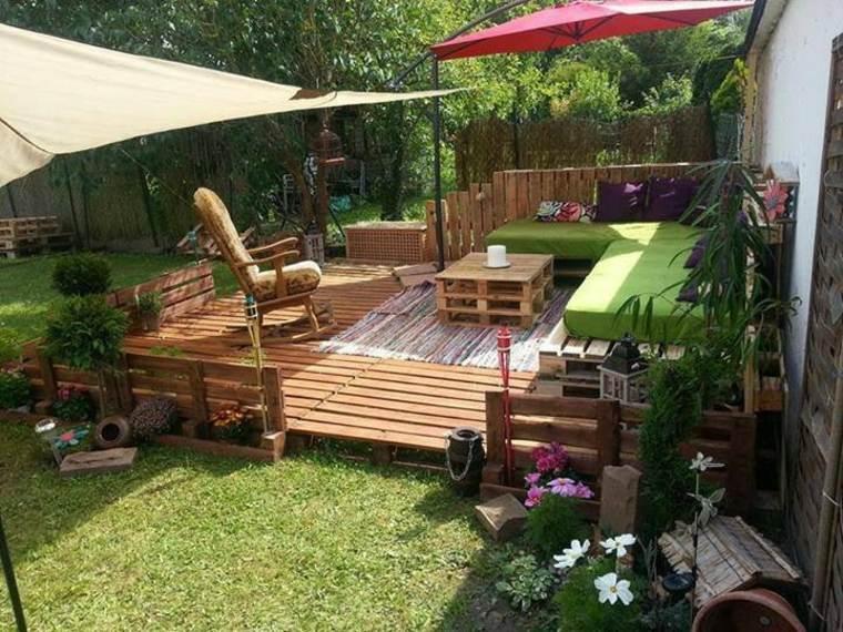 estupenda terraza muebles palet madera