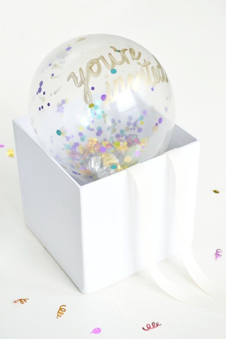 globo caja carton confeti