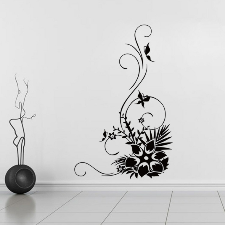 estupendo vinilo decorativo forma flor