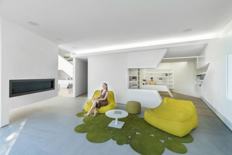 estupendo interior sillones amarillos