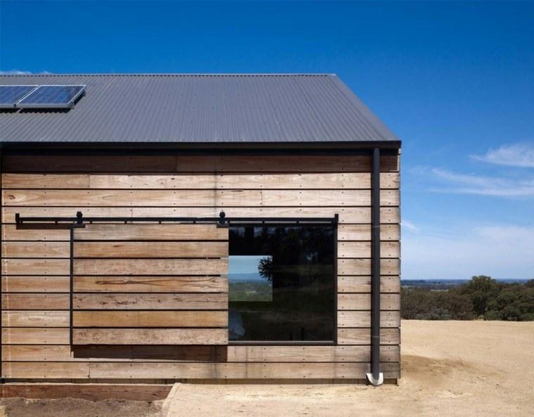 fachada casa madera natura