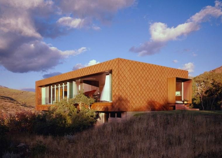 Fachadas de chalets con dise os originales y modernos - Acero corten fachadas ...