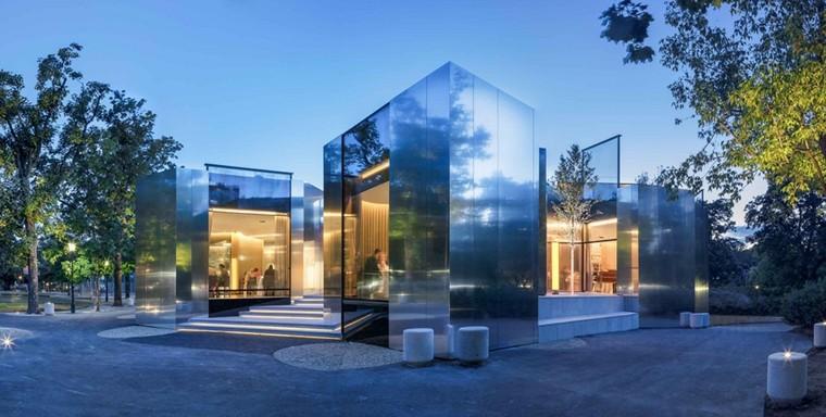 fachada diseño moderno espejos