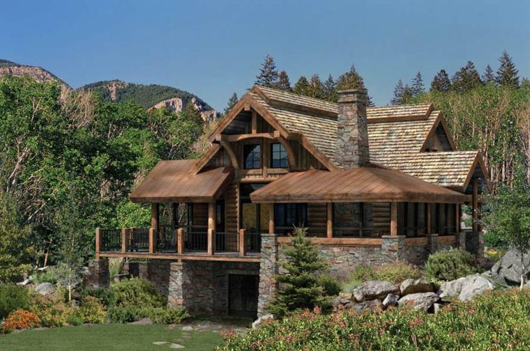 Fachadas de casas de pueblo ideas para decorar - Como decorar una casa rural ...