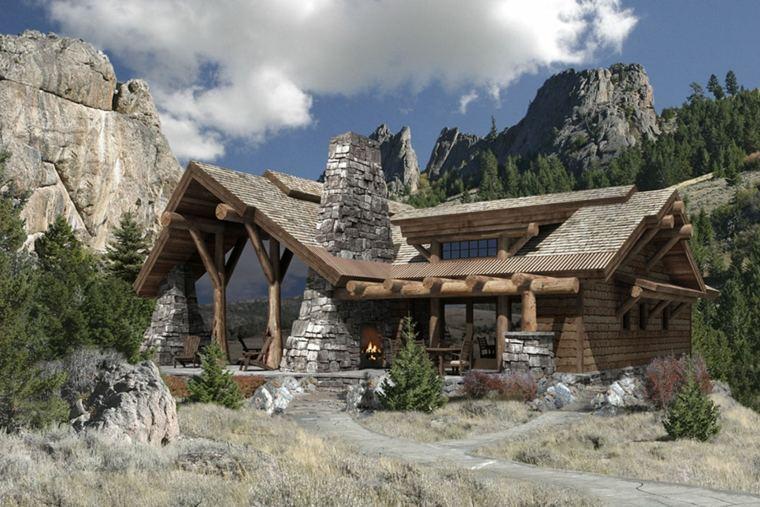 fachadas de casas de pueblo originales