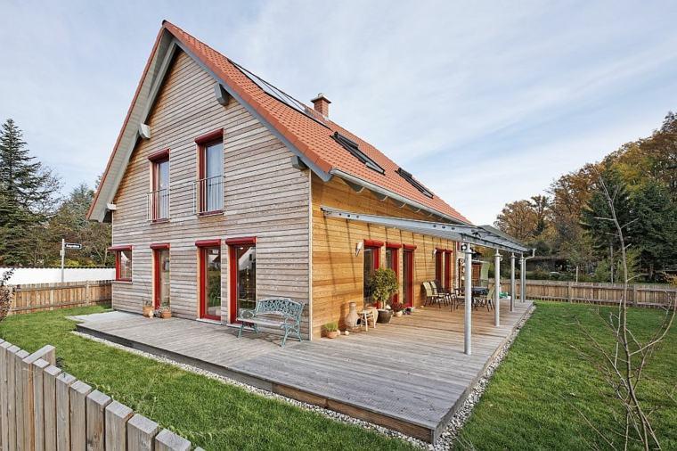 fachadas de casas de pueblo pequeñas