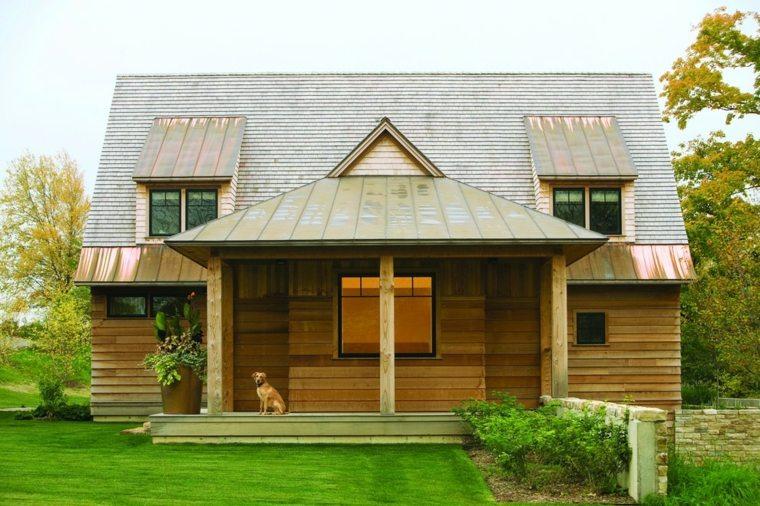 fachadas rústicas modernas casa