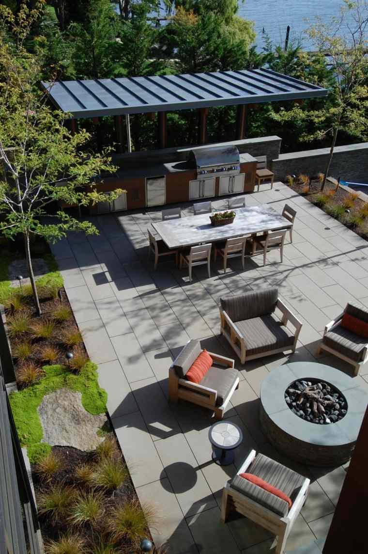 fotos de cocinas jardin amplio diseno McClellan Architects ideas