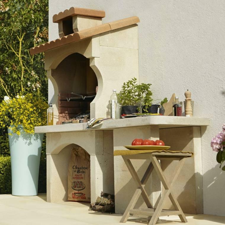 fotos de cocinas jardin barbacoa exterior diseno ideas