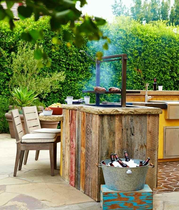 fotos cocinas jardin diseno estilo rustico ideas